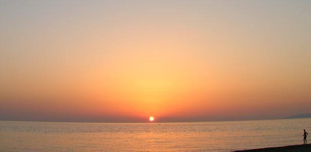 Tramonto sulla spiaggia di Santa Maria del Cedro
